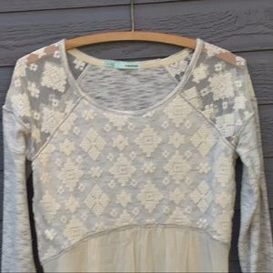 Maurices BOHO  lacey tunic, Size small